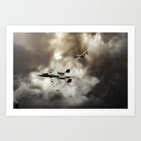 ghost busters Art Prints featuring A-10 Tank Busters by Airpower Art