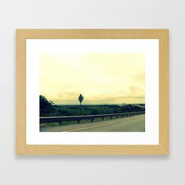 Keep Driving Framed Art Print