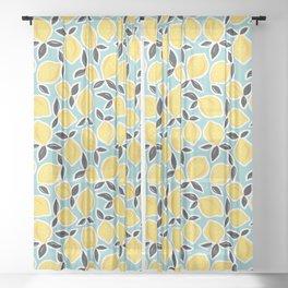 YELLOW CITRUS LEMON PATTERN Sheer Curtain