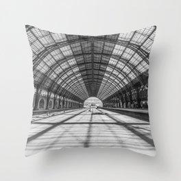 Retiro Train Station. Buenos Aires. Throw Pillow