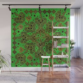 Shamrock Clover Celtic Ornament Wall Mural