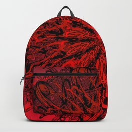 Blood Red & inked Backpack