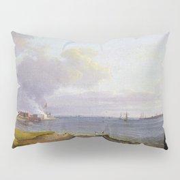 Johan Christian Dahl View over Øresund Pillow Sham