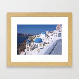 Oia Village in Santorini Framed Art Print