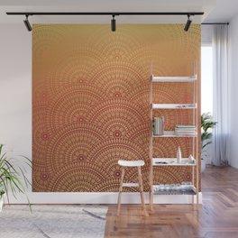Sunset Mandala Wall Mural