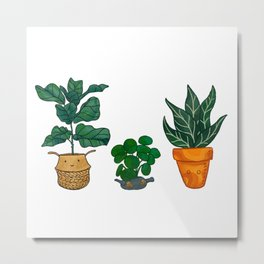 Potted Plant Critters 3 Metal Print
