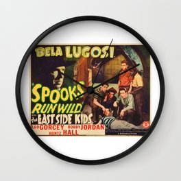 Spooks Run Wild, Bela Lugosi, vintage movie poster Wall Clock