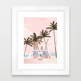 Beach Spring Break Framed Art Print