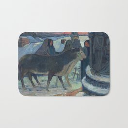 Christmas Night, The Blessing of the Oxen, Gauguin Bath Mat