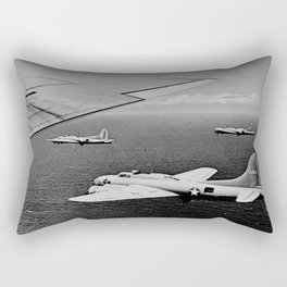 B-17F Flying Fortress Bombers over the Southwest Pacific Rectangular Pillow
