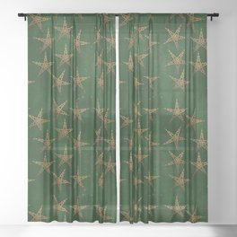 Hunter and Gold Celtic Sheer Curtain