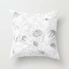 King and Queen Proteas Throw Pillow