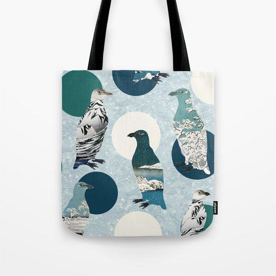 Penguin Polka Tote Bag