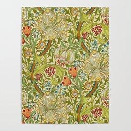 William Morris Golden Lily Vintage Pre-Raphaelite Floral Poster