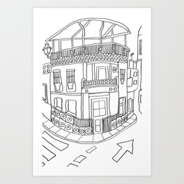 Street View From Andalusia Art Print