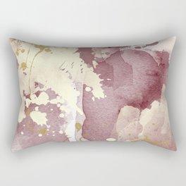 Burgundy abstract painting Rectangular Pillow