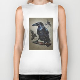 Raven background Biker Tank