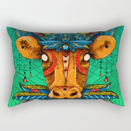 Holy Cow! Lotus. Rectangular Pillow