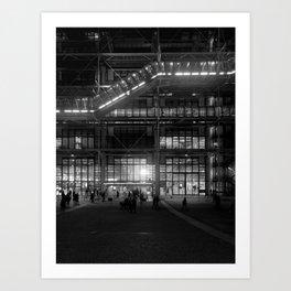 Centre Pompidou Art Print