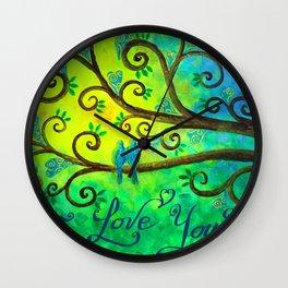 I Love You Hearts by Jan Marvin Wall Clock