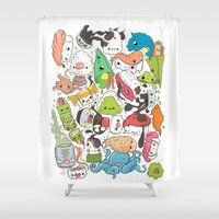 nori Shower Curtains featuring Sushi Bar: Point of Nori-turn by ieIndigoEast