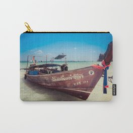 Longtail Boat on Phi Phi Island Thailand Carry-All Pouch