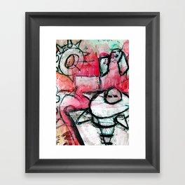 breaking the house Framed Art Print