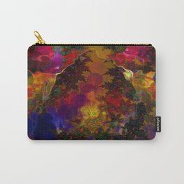 Stereo Trippin' Psychedelic Fractal Carry-All Pouch