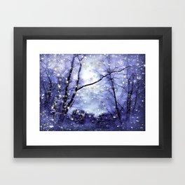 The Magic Of Winter Evening Framed Art Print