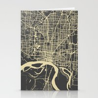 memphis Stationery Cards featuring Memphis map by Map Map Maps