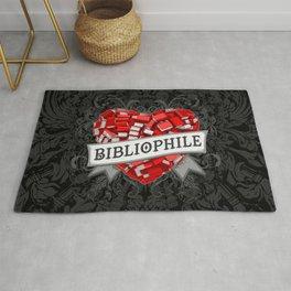 Bibliophile Heart Rug