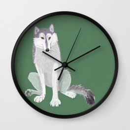 Canadian Wolf (Canis lupus occidentalis) (c) 2017 Wall Clock
