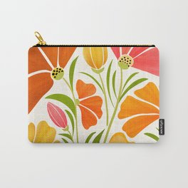 Spring Wildflowers / Floral Illustration Carry-All Pouch