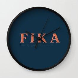 Fika Wall Clock