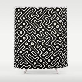 sand futuro maze Shower Curtain