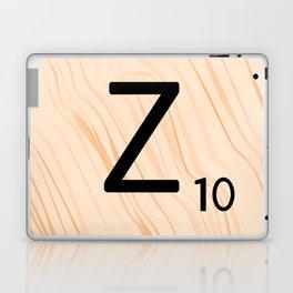 Scrabble Letter Z - Scrabble Art and Apparel Laptop & iPad Skin