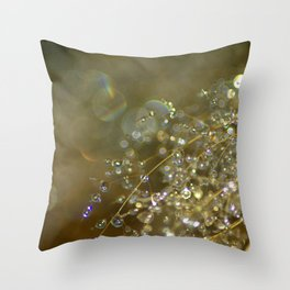 Drops of water Throw Pillow