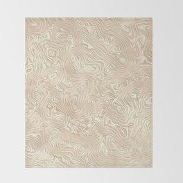 Butterscotch Silk Moire Pattern Throw Blanket
