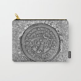 New Orleans Water Meter Louisiana Crescent City NOLA Water Board Metalwork Grey Silver Carry-All Pouch