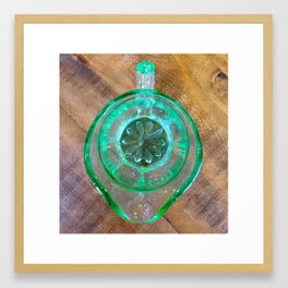 Domestic detail series - GREEN JUG OF JOY Framed Art Print