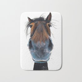 Happy Horse ' HAPPY HARRY ' by Shirley MacArthur Bath Mat