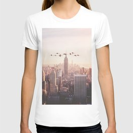 FLAMINGOS IN NEW YORK T-shirt