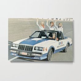 Union 76 Grand National Regal T-type Indy Pace Car Metal Print