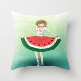 Watermelon Skirt Throw Pillow