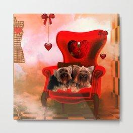 Cute little Yorkshire Terrier Metal Print
