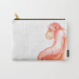 Elka, Orangutan Watercolor Carry-All Pouch