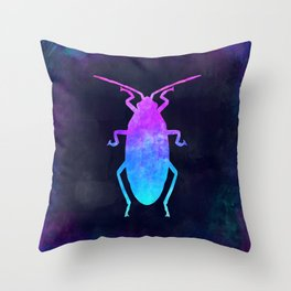 COCKROACH IN SPACE // Animal Graphic Art // Watercolor Canvas Painting // Modern Minimal Cute Throw Pillow