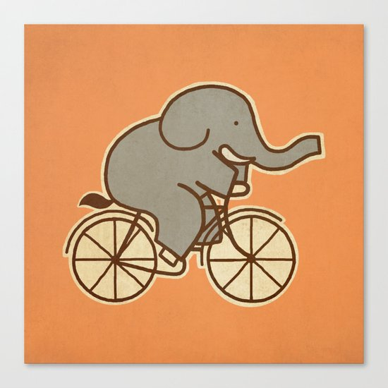 Elephant Cycle Canvas Print
