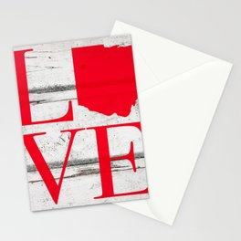 Ohio Love Wood Print Stationery Cards