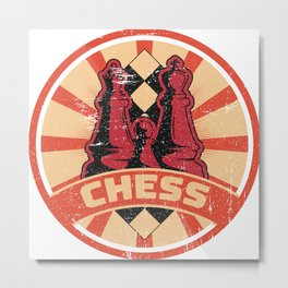 Chess Propaganda | Tactic Strategy Board Game Metal Print